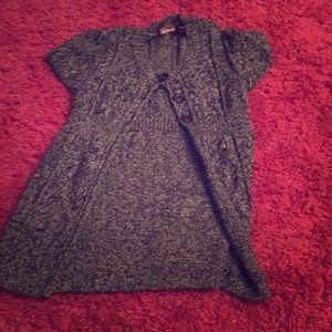 Gray sweater for rainy days